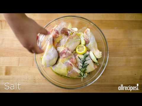 How to Make Roasted Chicken with Lemon and Rosemary   Chicken Recipes   Allrecipes.com