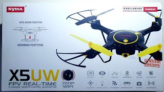 SYMA X5UW FPV Real Time Quadcopter - 720p WIFI