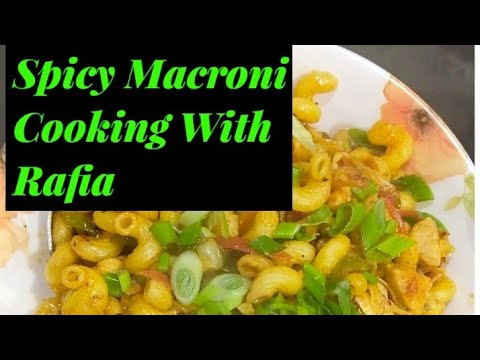 Spicy Microni In Diffrent Recipe Cooking with Rafia