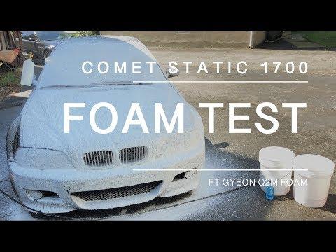 Comet Static 1700 Electric Pressure Washer Foam Test (Gyeon Foam on E46 M3)