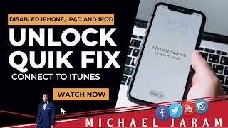 How to unlock disabled iPhone, ipad and ipod without losing data | Forgot password recovery