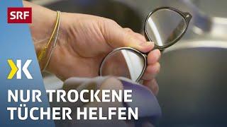 Mit diesen Brillenputztüchern beschlagen die Gläser nicht   2021   SRF Kassensturz