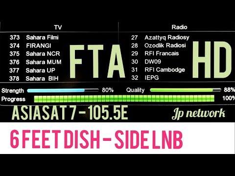 asiasat 7 at 105 5°e 90cm dish Auto scan channels - смотреть