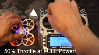 How To Limit Your Mini Quad Throttle to Fly Indoors!
