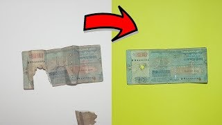 Repair Torn Money - Turn a Damaged Paper Currency into New!