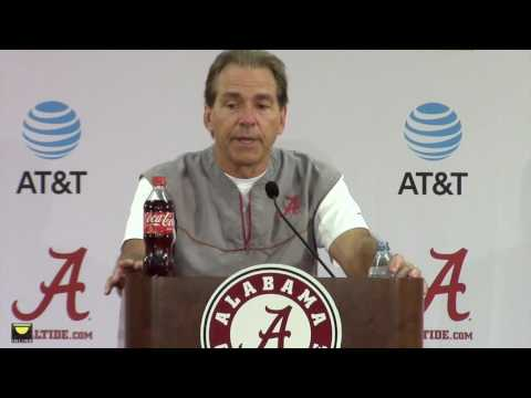 Watch Nick Saban preview Tennessee, update injuries to Reuben Foster, Alphonse Taylor