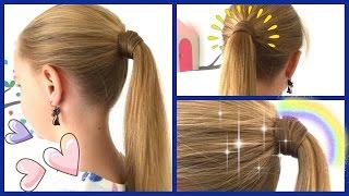 mit Haaren umwickeltes Zopfgummi♥ 2 Varianten ohne Haarnadeln♥Zopf-Frisur für Mädchen