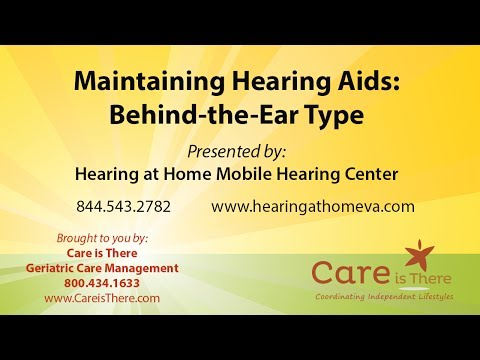 Maintaining Behind the Ear Hearing Aids