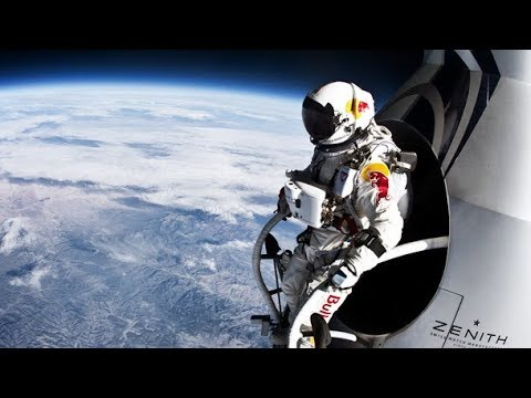 Felix Baumgartner Skydives From a Whopping 24.2 Miles High