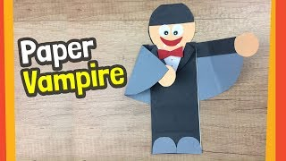 Paper Vampire Craft | Fun Halloween Crafts For Kids
