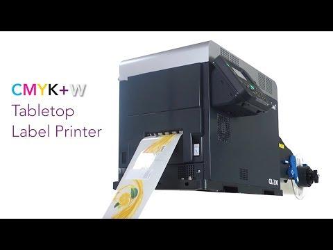 QuickLabel  QL-300 CMYK + WHITE Toner-Based Digital Colour Label Printer video thumbnail