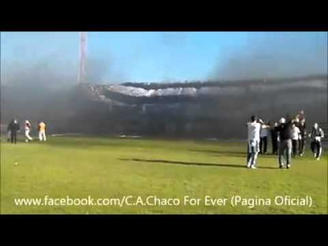 """Recibimiento CHACO FOR EVER final argentino b"" Barra: Los Negritos • Club: Chaco For Ever • País: Argentina"