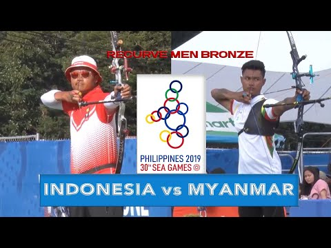 INDONESIA vs MYANMAR | Recurve Men Bronze Final | ARCHERY SEA GAMES 2019