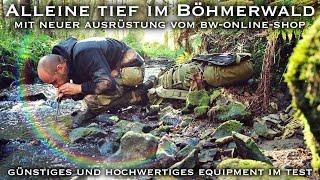 Übernachtung alleine tief im Böhmerwald mit neuer Ausrüstung von bw-online-shop