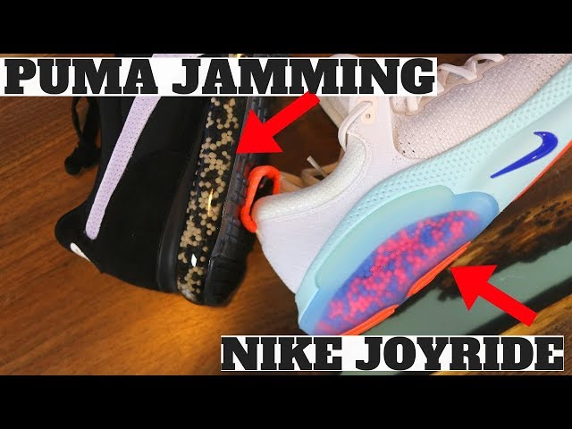 NIKE JOYRIDE vs PUMA JAMMING! (BOOST, REACT, NRGY, 4D, ZOOMX Compared)