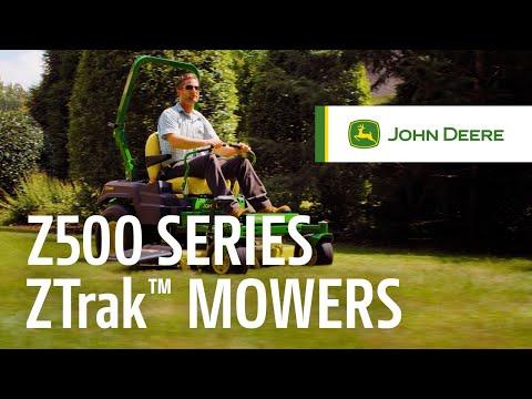 John Deere Z515E spakstyrt plentraktor - film på YouTube