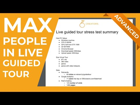 Live guided tour stress test results 14th of oct max people in live ...