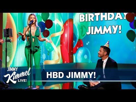 Maren Morris Sings Jimmy Kimmel a Birthday Song