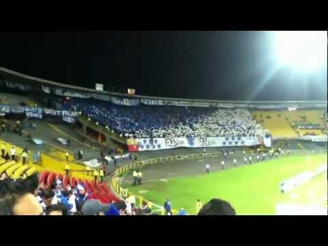 """""""millonarios vs xolos blue rain tifo (0 1) Libertadores"""" Barra: Blue Rain • Club: Millonarios"""