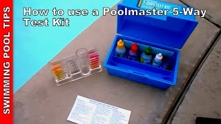 Pool Test Kit 5-way, How to Use aPoolmaster 22260 5-way test kit