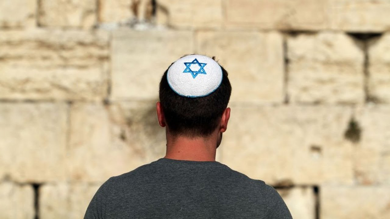 Jewish man wearing kippah.