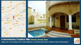 preview picture of video '3 dormitorios 3 baños Villa se Vende en Orihuela, Alicante, Spain'