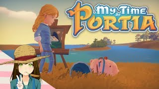 My time at portia - Gust's painting! Episode 25 {Early Access}