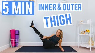 5 Minute Inner & Outer THIGH Workout by Love Sweat Fitness
