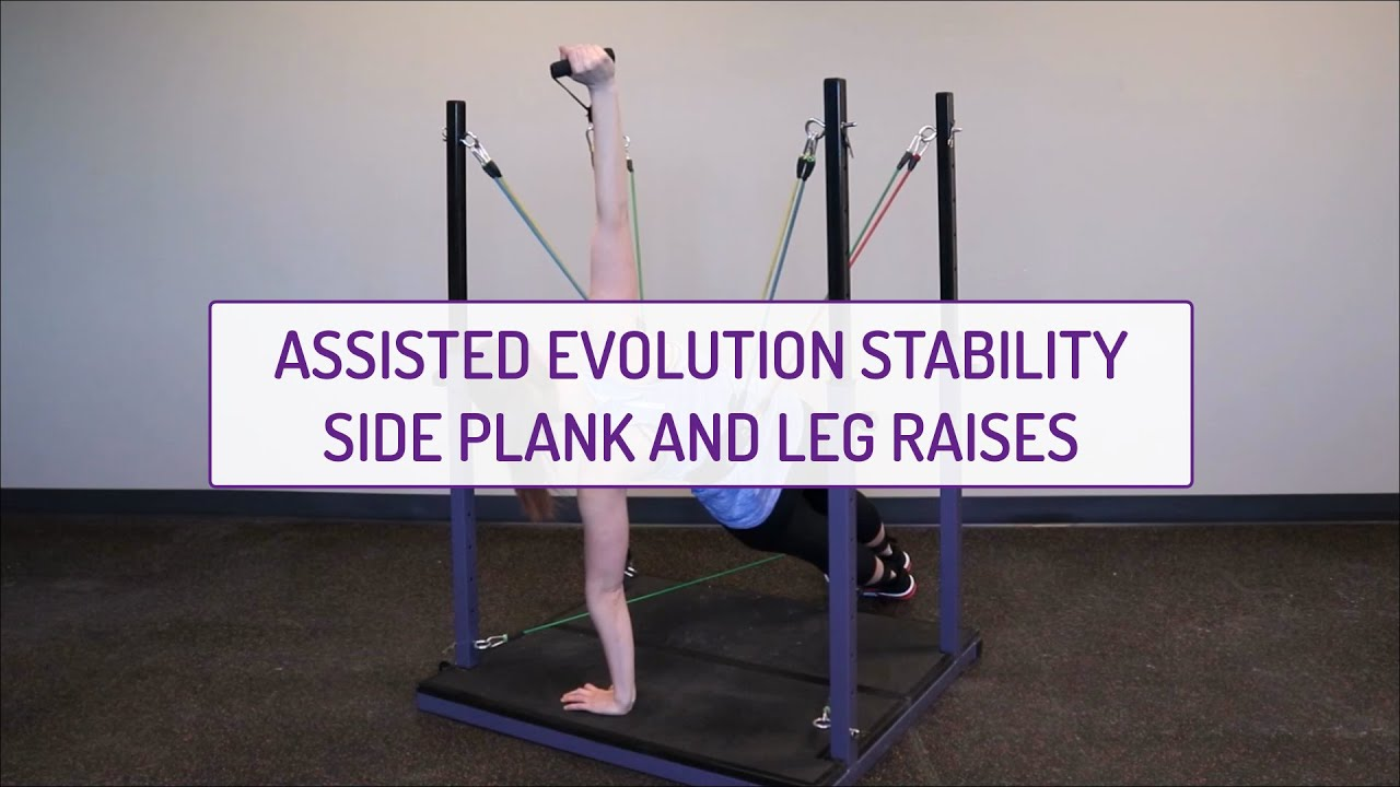Assisted Evolution Stability Side Planks and Leg Raises
