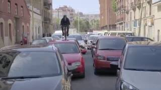 100% Brumotti against traffic in Barcelona