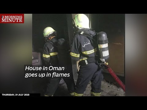 House in Oman goes up in flames