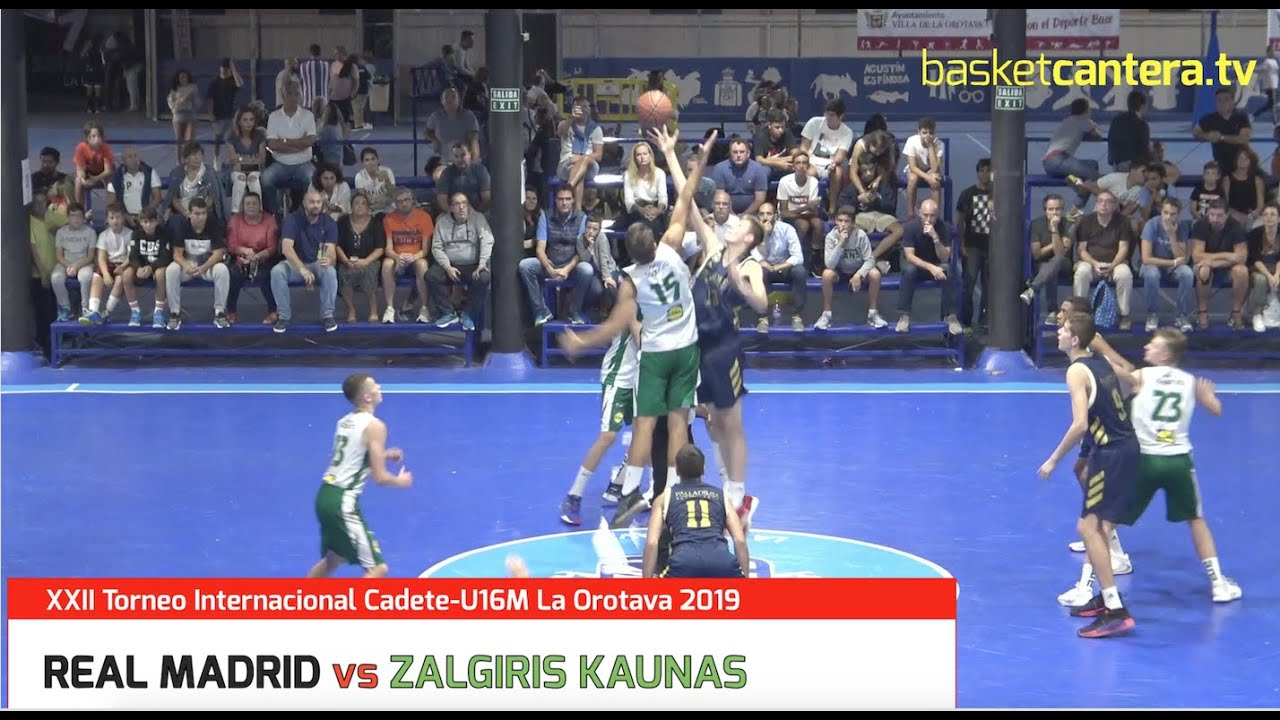 U16M - REAL MADRID vs ZALGIRIS KAUNAS. Torneo Internacional Cadete La Orotava2019 (BasketCantera.TV)