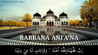 [Lirik] Rabbana Anfa'na - Vocal Tgk Najamuddin Ar-Runa & Tgk Khairol Maulana