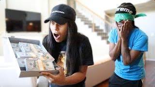 SURPRISING GIRLFRIEND WITH $100,000 PRANK!!! (EMOTIONAL)