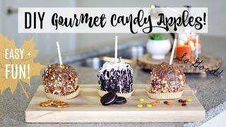 Homemade Gourmet Caramel Apples! Easy + Fun! | Justine Marie