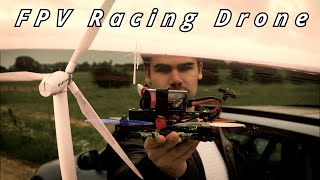 Flying through a WIND TURBINE | FPV Racing Drone for the first time!
