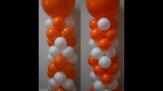How To Make A Balloon Column For Balloon Decorations   Pattern Series Part 1