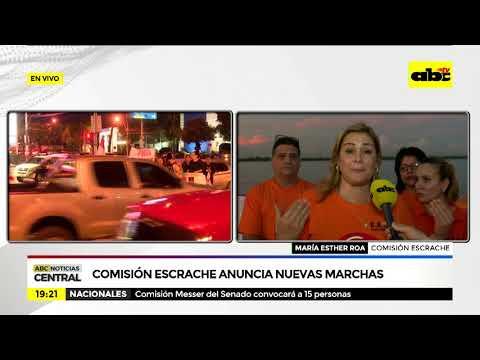 Comisión escrache anuncia nuevas marchas