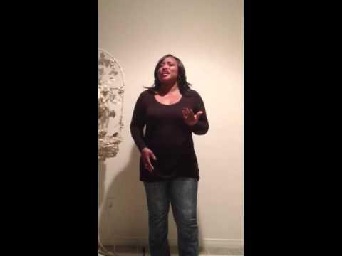 Tarsha singing the Star Spangled Banner