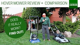 Bluebird HM 200 Hover Mower Review + Mower Camparison to EGO Lawn Mower | Fence Armor