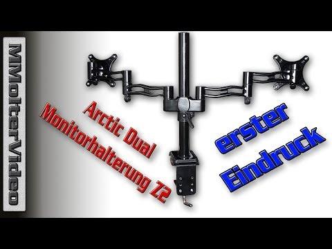 Arctic Dual Monitorhalterung Z2 mit 4 Port USB HUB schwarz erster Eindruck von MMolterVideo
