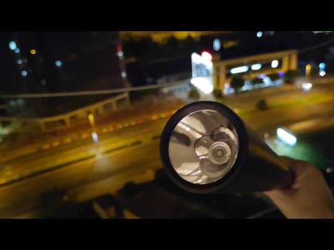 Baseball Bat LED Flashlight Outdoor Test