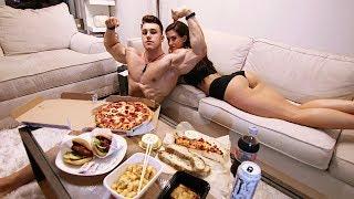 EPIC CHEAT DAY - FIRST EVER CHEAT MEAL?! w/ Girlfriend | Hardbody Shredding Ep 12