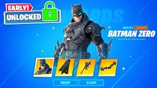 Epic gave me *NEW* ZERO BATMAN skin EARLY! (Fortnite Skin Unlocked)