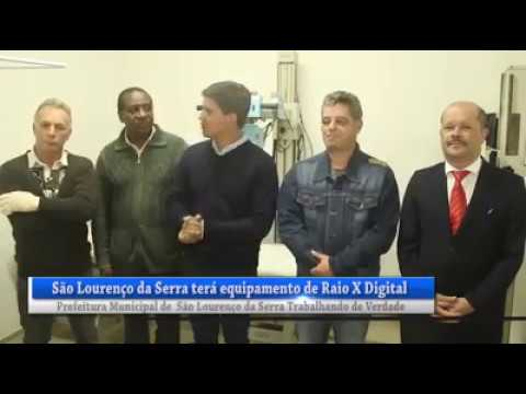 Prefeito Arizinho e Vereadores falam sobre o novo aparelho de raio x para São Lourenço da Serra