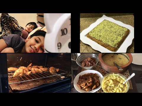 Preparing kids' favorites/Tandoori Chicken,Bread Kunafa,Prawns Roast,Malai Egg Curry,Hummus