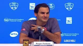 "Roger Federer ""Djokovic is playing much better tennis now"" - Cincinnati 2018 (HD)"