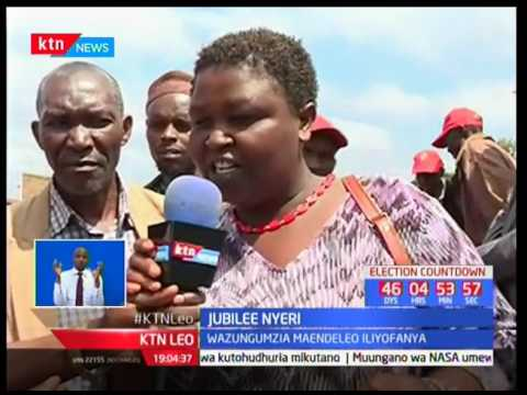 Rais Uhuru na naibu wake waelekeza kampeni zao katika kaunti ya Nyeri