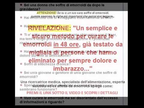 Come eliminare serrature a emorroidi