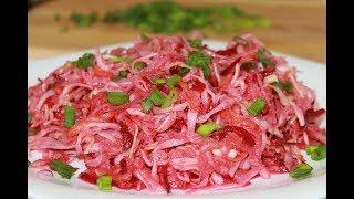 Легкий овощной салат,полезный и диетический